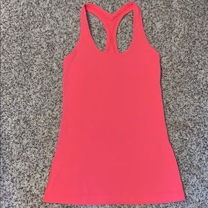 Pink athletic tank top